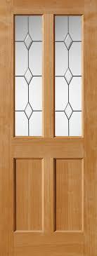 jbkind churnet glazed oak door with diamond leaded safety glass