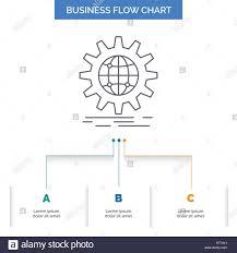 International Business Globe World Wide Gear Business