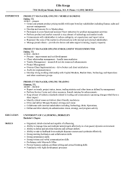 Product Management Resume Resume Samples Online Product Manager Online Resume Sample 64