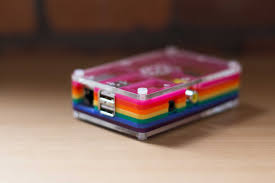 electronics project boxes rainbow color acrylic pibow