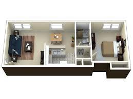 for the premium 1 bedroom apartment floor plan