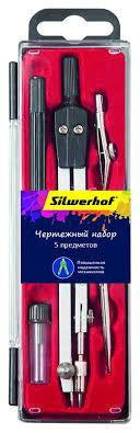 Купить Готовальня <b>Silwerhof</b> 540120 в компл.:5 <b>предметов</b> в ...