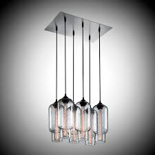 contemporary chandelier glass incandescent pack 6 chandelier by jeremy pyles
