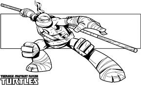 Small Picture Leonardo Ninja Turtle Coloring Page Free Download