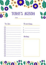 Daily Planner Printout Customize 94 Daily Planner Templates Online Canva