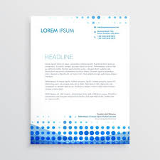 Business Letterhead Impressive Creative Blue Business Letterhead Design Download Free Vector Art