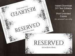 reserved sign templates diy printable wedding reserved sign template editable ms