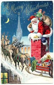 Printable outdoor vintage christmas scenes