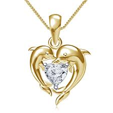 glamorous dolphin heart design pendant for valentine special gift 925silver