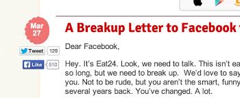 Kevin Urie On Twitter Funny That The Eat24 Breakup Letter Has