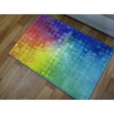 rainbow kids play mat bright floor area rug 80x120cm