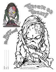 Small Picture Scary Coloring Pictures Festival Collections