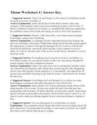 Theme Worksheet 4   Answers