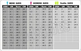 Reebok Sweatshirt Size Chart Reebok Shoe Size Chart