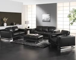 room ideas with black furniture. Modern Black Leather Furniture Living Room Ideas With