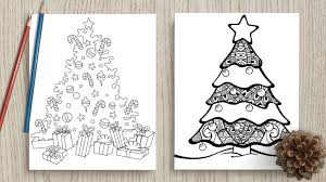 Grab a box of brand new colored pencils, {who doesn't instantly feel better with an fresh box of pencils, right?} or use a set of bright. Free Printable Christmas Tree Coloring Pages The Artisan Life