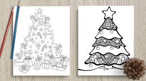 Colorful christmas tree 02 vector. Free Printable Christmas Tree Coloring Pages The Artisan Life