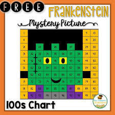 Free Frankenstein Hundreds Chart Mystery Picture School