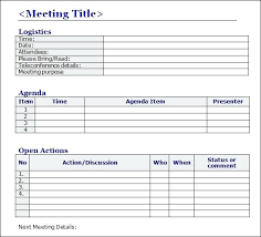 Microsoft Meeting Notes Template Minutes Template Microsoft Word Automotoread Info