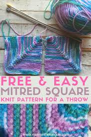 Free Easy Knitting Patterns Interesting Free Easy Knit Square Pattern To Make A Quick Throw