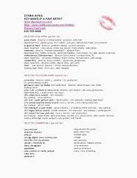 Makeup Artist Resume Inspiration Resume For Makeup Artist Make Up Artist Resume Lovely Artist Resume
