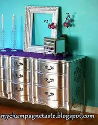 diy metallic furniture. Silver Leaf French Provencial Dresser Diy Metallic Furniture V