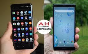 Sony Xperia Comparison Chart Phone Comparisons Samsung Galaxy S9 Vs Sony Xperia Xz2