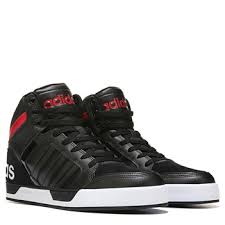 adidas shoes high tops red and black. adidas neo raleigh 9tis men\u0027s high top sneakers black/red/white 530-60456 shoes tops red and black