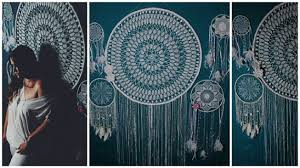 Giant Dream Catchers Custom Dreamcatcher Boho Wall Hanging Large Boho Wedding Photo Backdrop