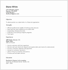 Sample Resume For A Bank Teller Bank Teller Resume Templates No Experience Aldfa