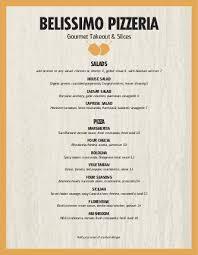 Take Out Menu Template Pizza Restaurant Menu Template Design Templates By