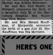 The Perry County Times from New Bloomfield, Pennsylvania on July 31, 1958 ·  Page 5