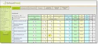 Teacher Gradebook Online Gradebook Schoolfront Online Hosted School Management Software