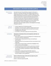 Sample Resume Mechanical Engineer Fresh Graduate New Mechanical ...