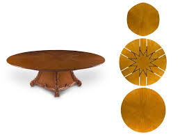 expandable round table the world s first app enabled expandable dining table by manfflo