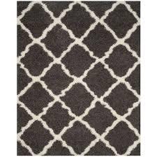 safavieh dallas collection 8 x 10 foot indoor area rug dark grey ivory