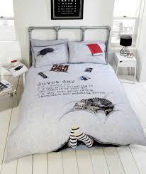 duvet days lazy day d trendy themed design bedding duvet cover set