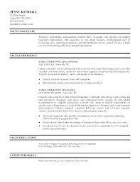 Retail Duties Resume Sales Associate Duties Resume Retail Sample
