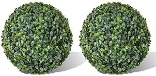 <b>Boxwood Ball Artificial Leaf</b> Topiary Ball 36 cm 2 pcs: Amazon.de ...