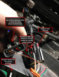 fan clutch wiring fix pulled out of harness ford powerstroke click image for larger version fan clutch wiring factory set up
