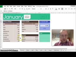 Monthly Budget Google Sheets Part 1 Youtube