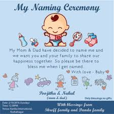 Pinellenthendral S On D Naming Ceremony Invitation Naming