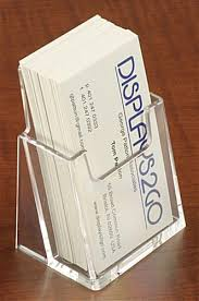 Business Cards Display Stands Vertical Business Card Holders Clear Acrylic 27