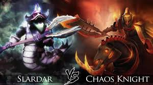 dota 2 slardar vs chaos knight one click battle youtube