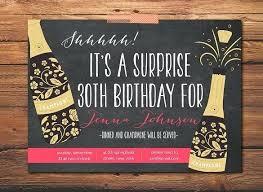 Surprise Party Invites Birthday Invitations Retirement Wording