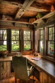 rustic office. Would I Get Any Work Done In This Beautiful Office Or Just Gaze Out The Windows Nothing Better Than A Desk With Window View Rustic G