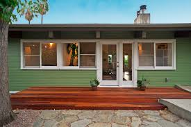 mid century modern front porch. Classy Open View Glass Windowed For Landscape Mid Century Modern Homes And Wooden Terrace Flooring Ideas Feat Stones Paver Front Yard Installations Porch