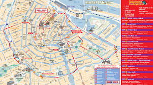 amsterdam map  city sightseeing hopon hopoff bus tour routes