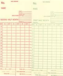 5503 Time Card Monthly Semi Monthly