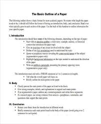 academic paper format 10 paper outline templates free sample example format download